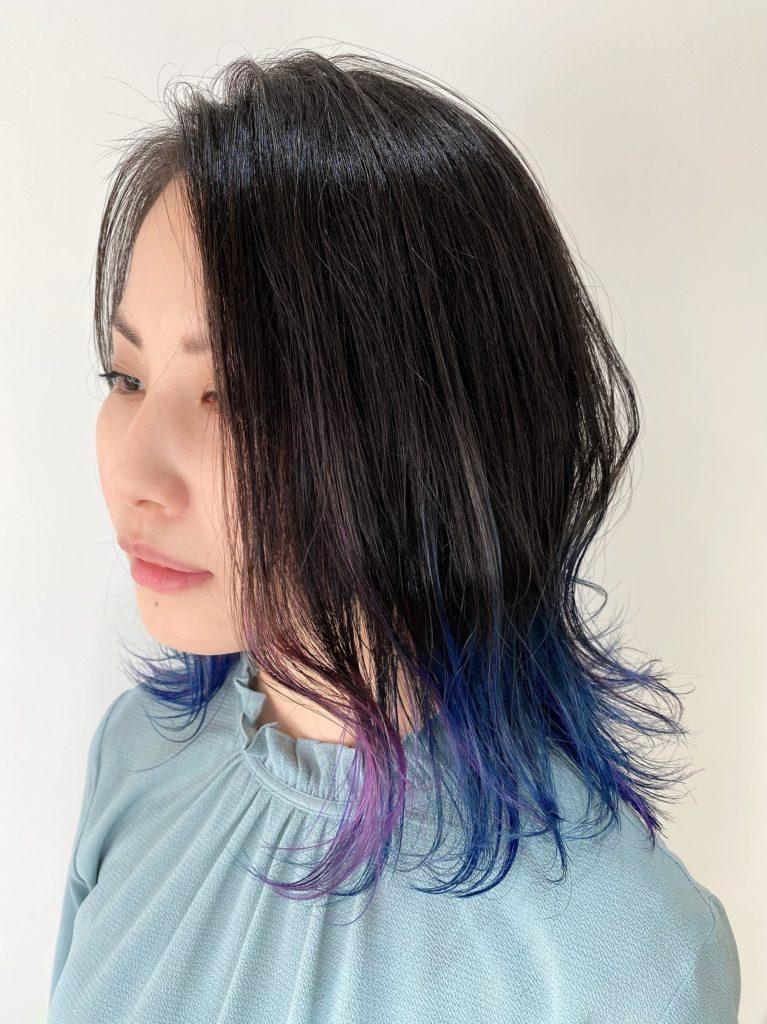 インナー 紫ブルーミックスカット写真